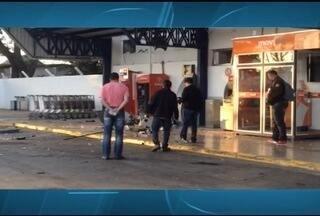Homens rendem vigias e explodem caixas de aeroporto em Montes Claros - Caixas eletrônicos ficam na parte externa do aeroporto.