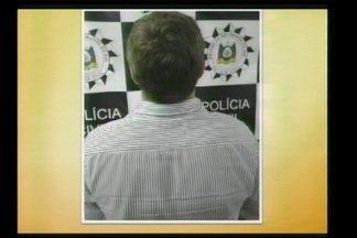 Estelionatário é preso em Santa Rosa, RS - Ele foi levado ao presídio estadual da cidade.