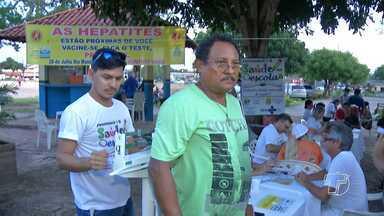 CTA realiza ações de conscientização em campanha contra hepatites virais em Santarém - Uma ação foi realizada na quinta-feira (14) no Parque da Cidade.