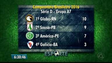 Sousa tem jogo decisivo no domingo, contra o Globo FC - Dinossauro precisa vencer para garantir a classificação para o mata-mata da Série D.