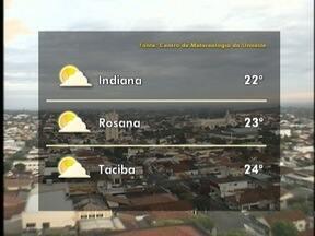 Frio predomina no Oeste Paulista - Solo aparece entre nuvens.