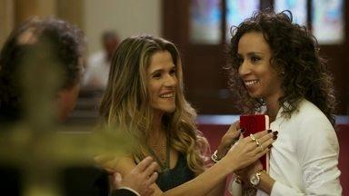 Marlene e Celma disputam a data de casamento - Moacir sugere que os dois casais se casem juntos