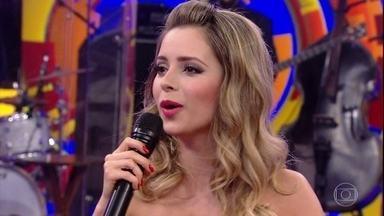 Sandy fala sobre o ciúme de Lucas Lima - Cantora fala sobre o boato da entrada de homens no seu camarim.