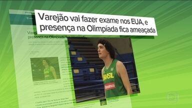 Com dores nas costas, Varejão vira dúvida para a Rio 2016 - O jogador vai fazer exames para saber se segue na seleção ou não.