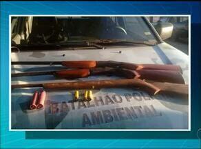 Polícia ambiental apreende armas de fogo em acampamento próximo a Araguanã - Polícia ambiental apreende armas de fogo em acampamento próximo a Araguanã