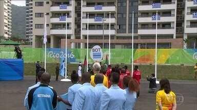Vila Olímpica tem cerimônia de boas vindas para delegações - Falta uma semana para a abertura dos Jogos.