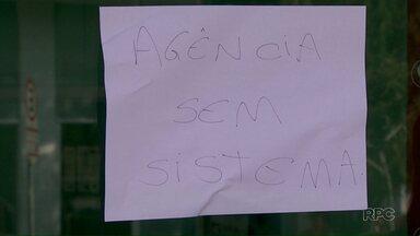 Bandido invade banco no centro de Foz - Hoje a agência ficou fechada