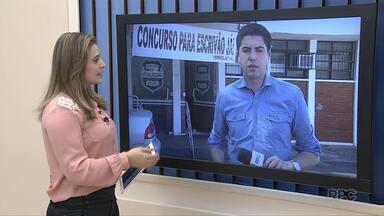 Policiais protestam por mais contratações em todo o Paraná - Alguns atendimentos foram prejudicados na delegacia de Maringá