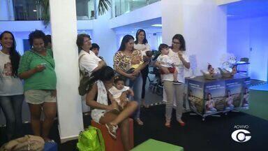Semana de amamentação conta com atividades em shopping de Maceió - Onjetivo é arrecadar leite materno e conscientizar as mamàes a respeito da importância da amamentação.
