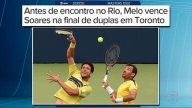 Marcelo Melo e Bruno Soares disputam a final de duplas em Toronto - Melo e Soares serão dupla no Rio 2016