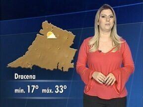 Confira a previsão do tempo para esta terça-feira na região - Débora Andreatto antecipa as informações.