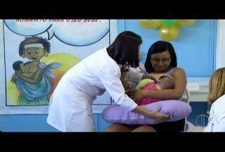 Campos, RJ, tem extensa programação na Semana Mundial de Amamentação - Mães recebem orientação de equipe especializada.