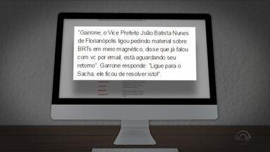 Documentos sugerem tentativa de fraude em licitação em Joinville e Florianópolis - Documentos sugerem tentativa de fraude em licitação em Joinville e Florianópolis