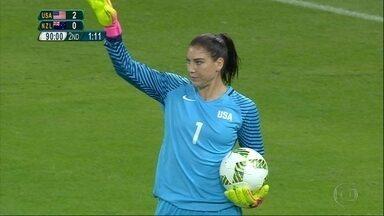 Mineirão teve rodada dupla do futebol feminino dos Jogos Olímpicos nesta quarta-feira - Às 19h, os Estados Unidos venceram a Nova Zelândia, e às 22h, as francesas golearam a Colômbia por 4 a 0. E a torcida não perdoou a goleira norte-americana, Hope Solo, após ela postar foto com kit-zika.