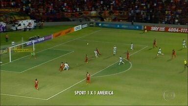 América-MG sai na frente, mas cede empate no fim ao Sport - Gol dos donos da casa foi marcado aos 47 minutos do segundo tempo