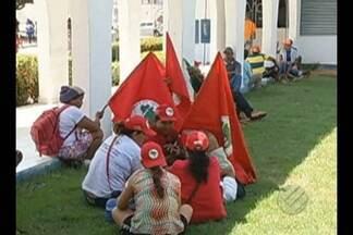 Integrantes do MST ocuparam Prefeitura de Marabá - Eles querem melhorias nos acampamentos da região.
