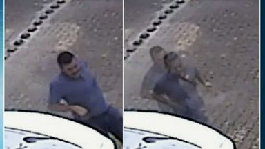 Homem arromba porta de condomínio e faz assalto no Bairro Passaré - Crime foi registrado por câmeras de segurança.