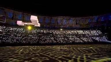 Caixas se transformam no 14 Bis, na Abertura da Rio 2016 - Caixas se transformam no 14 Bis, na Abertura da Rio 2016
