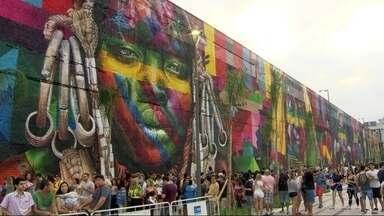 Boulevard Olímpico se consolida como ponto de encontro da Rio 2016 - Tem gente de tudo quanto é lugar do mundo. E comida também; são mais de 50 food trucks. Tem diversidade em tudo, até na música.