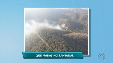 Serra Amolar está em chamas há 15 dias em Corumbá - Cerca de 10 mil hectares foram destruídos pelo fogo.
