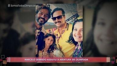Marcelo Serrado fez questão de levar a filha à cerimônia de abertura da Olimpíada - Fabi conta que não conteve as lágrimas durante o evento