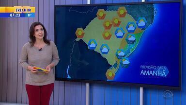 Tempo: quarta-feira (10) será de maior sensação de frio no RS - O tempo seco predomina novamente no estado.