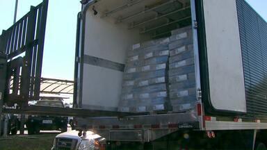 Polícia Federal apreende uma tonelada e meia de maconha - Droga estava escondida em uma carga de frango.