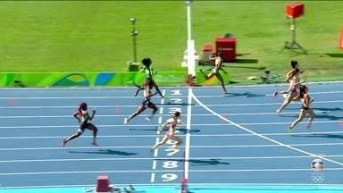 Vitória Rosa termina em sétimo na bateria dos 200m rasos do atletismo - Vitória Rosa termina em sétimo na bateria dos 200m rasos do atletismo
