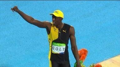 Usain Bolt brilha em mais uma competição do atletismo - No domingo (14), Bolt conquistou o inédito tricampeonato olímpico nos 100 metros rasos. Veja como foi o desempenho do campeão na prova.