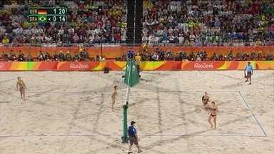Brasil é prata no vôlei de praia feminino - A dupla Bárbara e Ágatha perdeu para a dupla da Alemanha na final do vôlei de praia feminino na noite desta quarta-feira (17) no Rio e ficou com a prata.