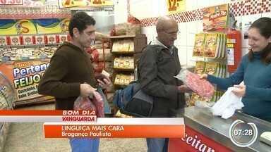 Tradicional linguiça de Bragança Paulista está mais cara - Preço da carne de porco aumentou até 30%.
