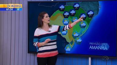 Tempo: sexta-feira (19) será de chuva na maior parte do RS - Na Campanha e Fronteira Oeste segue sem previsão de chuva.