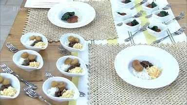 Descubra o que os atletas brasileiros comem antes das competições - Roberta Sudbrack é resposável pela alimentação dos 465 atletas da delegação brasileira. A chef leva alguns pratos para serem degustados pelos convidados do 'Encontro'