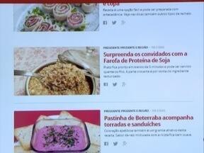 G1 lança o #Receitando, com as principais receitas da Tv Fronteira - Página tem pratos doces e salgados, além de molhos e dicas.