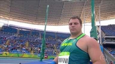 Darlan Romani se classifica para final do arremesso do peso - O brasileiro Darlan Romani se classificou para a final do arremesso do peso, que vai ser disputada na noite desta quinta-feira (18).