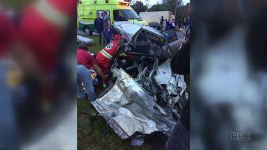 Vice-prefeito de Matelândia sofre acidente de carro - Foi no fim da tarde de ontem, na BR-277