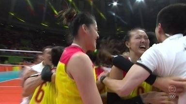 China vence Sérvia e é ouro no vôlei feminino - China vence Sérvia e é ouro no vôlei feminino