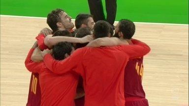 Espanha vence Austrália e leva medalha de bronze no basquete masculino - Espanha vence Austrália e leva medalha de bronze no basquete masculino