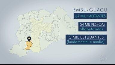 Embu-Guaçu é a segunda parada da viagem que o BDSP faz pelas cidades da Grande São Paulo - A cidade com 67 mil habitantes tem cerca de 15 mil estudantes nos ensinos fundamental e médio. A reportagem faz parte da série sobre eleições do BDSP, que percorreu 38 cidades da região metropolitana, exceto a capital.