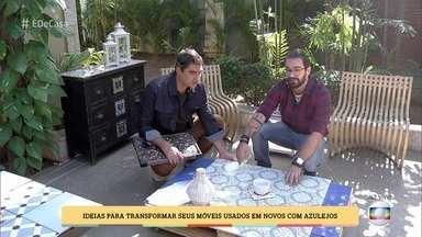 Fábio Basso dá dicas para aproveitar azulejos na decoração da casa - Designer tem ideias para transformar móveis usados em novos com azulejos ou sobras de porcelanatos