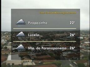 Tempo deve seguir chuvoso no Oeste Paulista - Veja como ficam as previsões para algumas cidades.