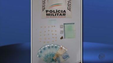 Três pessoas são detidas em bairro de Cambuquira com maconha e cocaína - Três pessoas são detidas em bairro de Cambuquira com maconha e cocaína