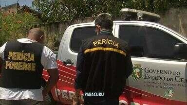Polícia faz perícia em sítio onde mulher foi mantida em cárcere privado - Crime ocorreu em Paracuru, no litoral do Ceará.
