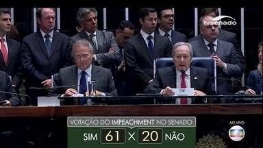 Senadores decidem se Dilma Rousseff ficará ou não inabilitada para função pública - Os senadores já aprovam o impeachment da presidente Dilma Rousseff.