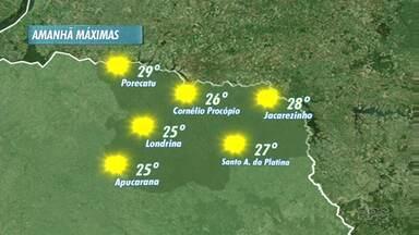 Sol deve marcar presença nos próximos dias, mas deve chover no final de semana - Temperaturas sofrem leve queda, com máximas na casa dos 20 graus no domingo.