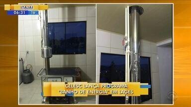 Celesc lança programa 'Banho de energia' em Lages - Celesc lança programa 'Banho de energia' em Lages