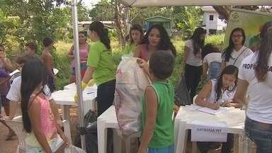 Ação educativa percorreu a área de proteção ambiental da Fazendinha, no Amapá - Uma ação educativa percorreu a área de proteção ambiental da Fazendinha. A comunidade recebeu orientações sobre a preservação do meio ambiente.