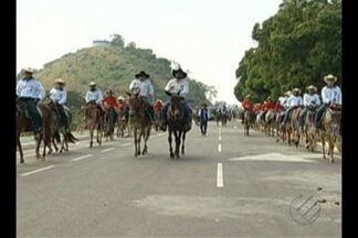 Feira Agripecuária é inaugurada em Parauapebas - Cavalgada marcou o início do evento.