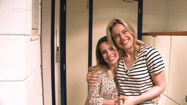 Fernanda Gentil encontra Sandy nos bastidores do 'Tamanho Família', e Gshow flagra tudo! - Confira o que rolou!