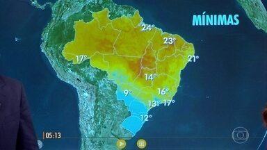 Confira a previsão do tempo para esta quarta-feira (07) - Confira a previsão do tempo para esta quarta-feira (07).